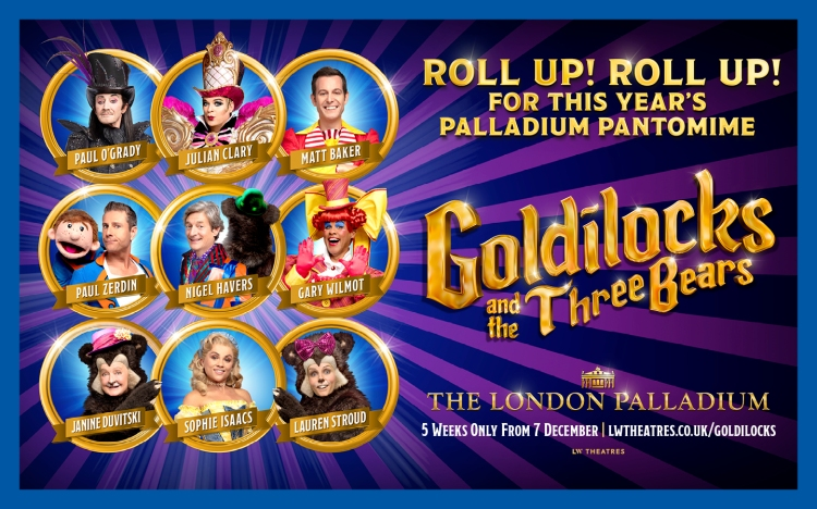 Goldilocks and the Three Bears at the London Palladium in the West End